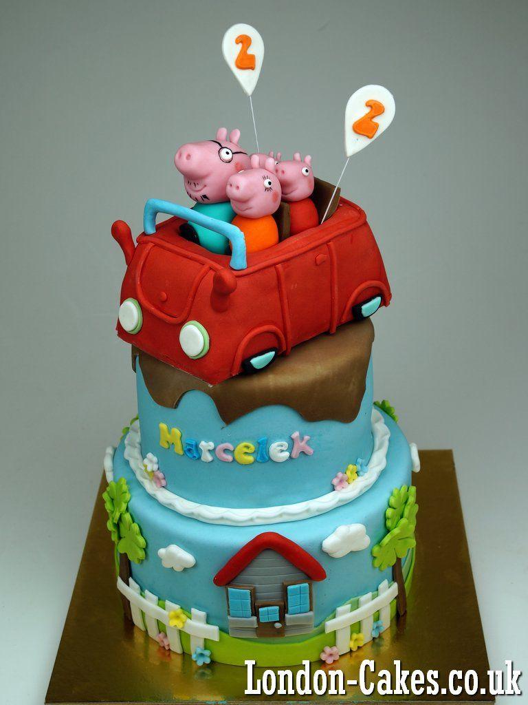 peppa Pibg Birthday Cake in London Peppa Pig Birthday Cakes