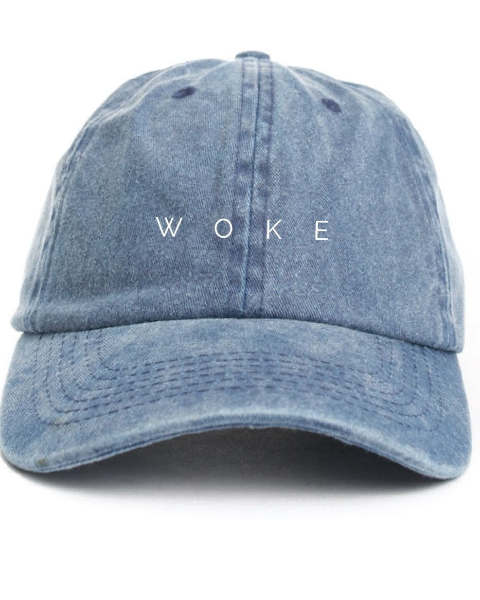 a714f68c152 WOKE Dad Cap - Blue Denim