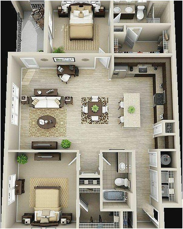 Ide denah rumah sederhana kamar tidur terbaru  modern home design house plans also rh pinterest
