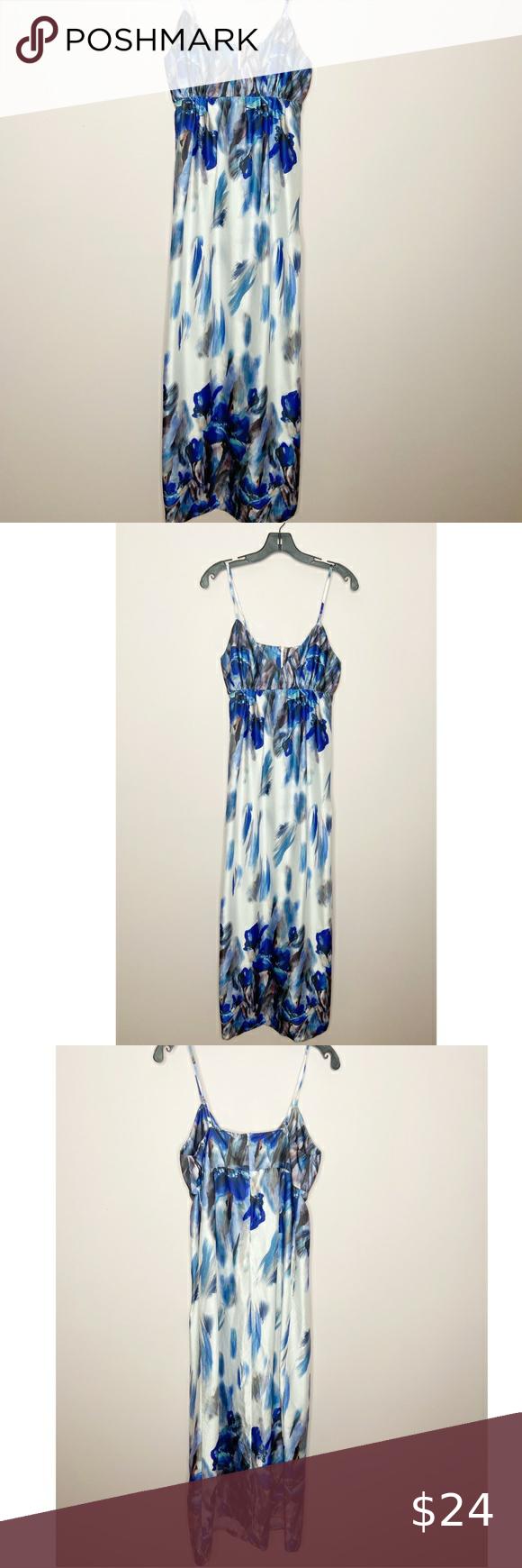 Sami Dani Blue Watercolor Maxi Dress In 2020 Maxi Dress Dresses Dani Dress [ 1740 x 580 Pixel ]