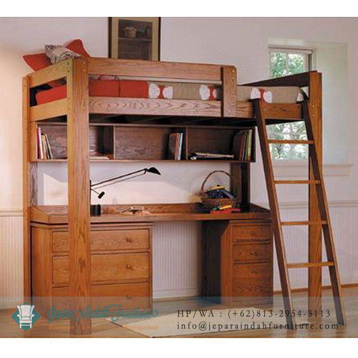 Tempat Tidur Dan Meja Belajar Minimalis
