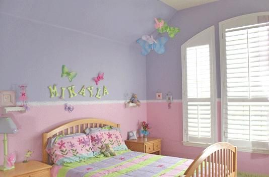 Girl\'s room paint ideas, we already have the chair rail ...