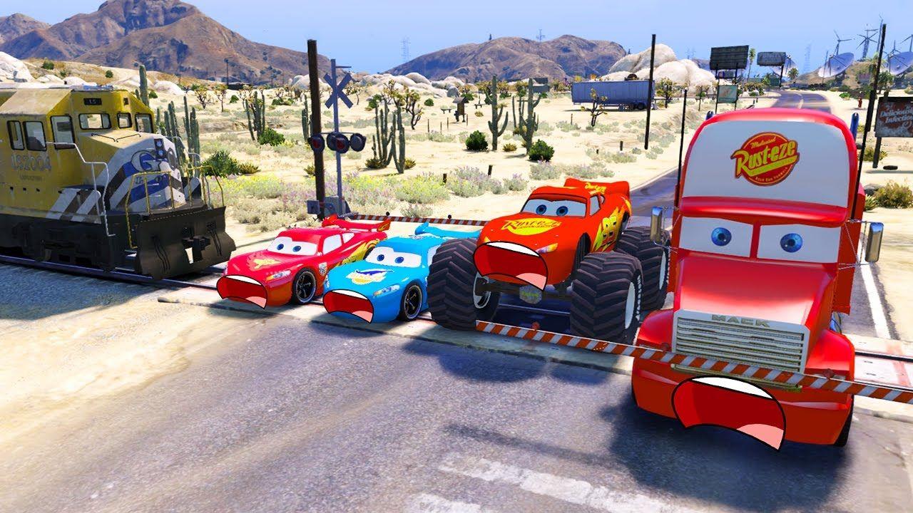cars trouble videos for kids disney cars lightning mcqueen mack truck