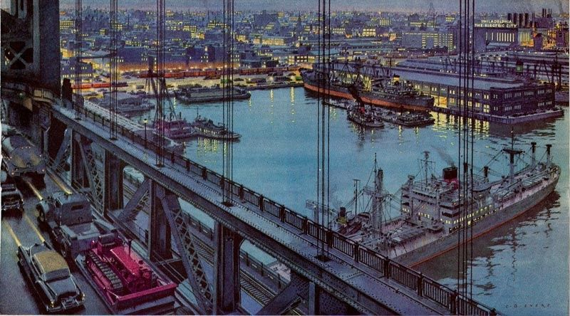 Past Print: Illustrations from past decades / part 3 / Carl Evers / Philadelphia Electric Company