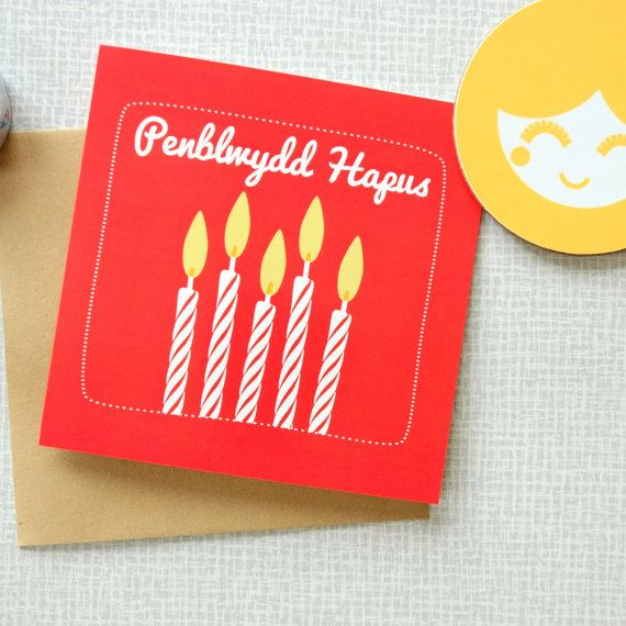 Welsh Greeting Card Birthday Card With A Candle Design Etsy Birthday Cards Happy Birthday Cards Birthday Greeting Cards