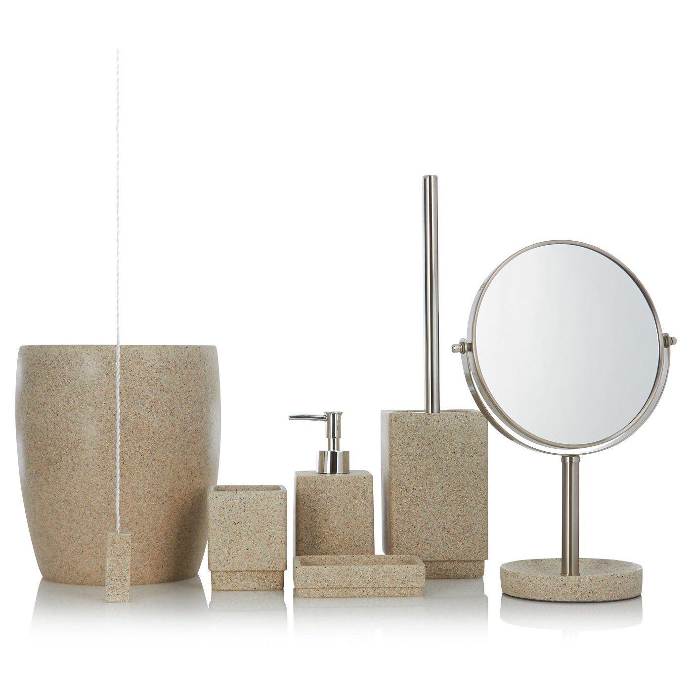 asda sandstone bathroom set - Google Search  Bathroom accessories