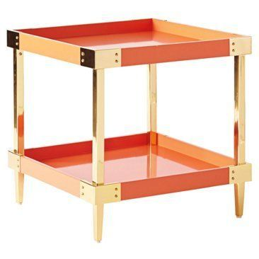 Check out this item at One Kings Lane! Savile Tray Side Table, Persimmon. 478 sale