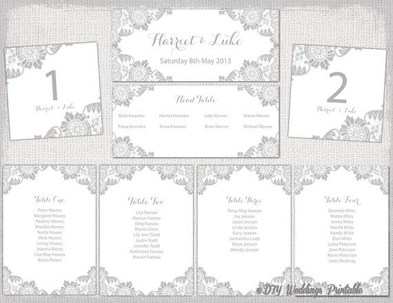 Printable lace wedding seating chart template for you to customize printable lace wedding seating chart template for you to customize and make your maxwellsz