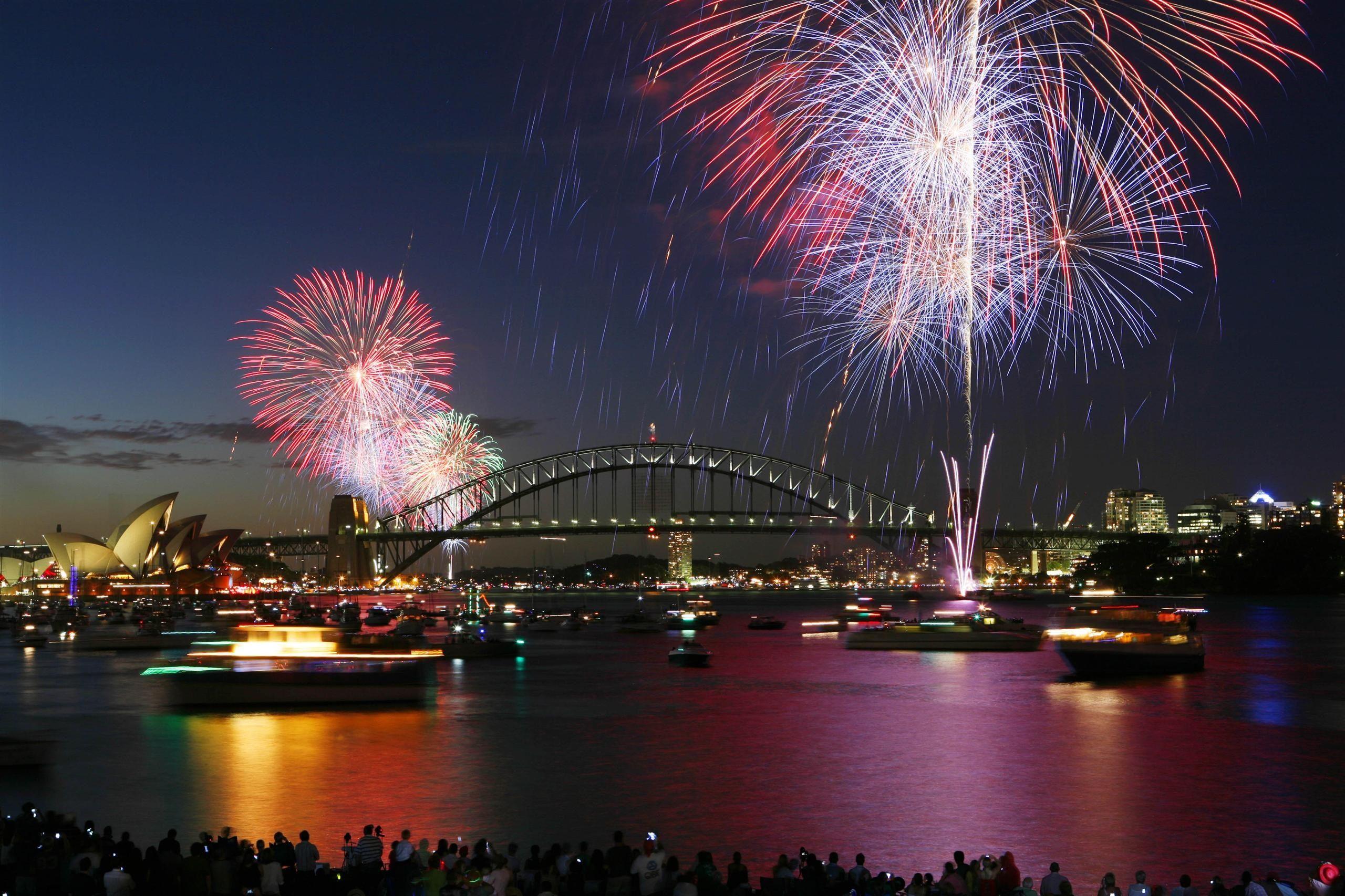 Sydney Australia City Travel Holiday City Fireworks