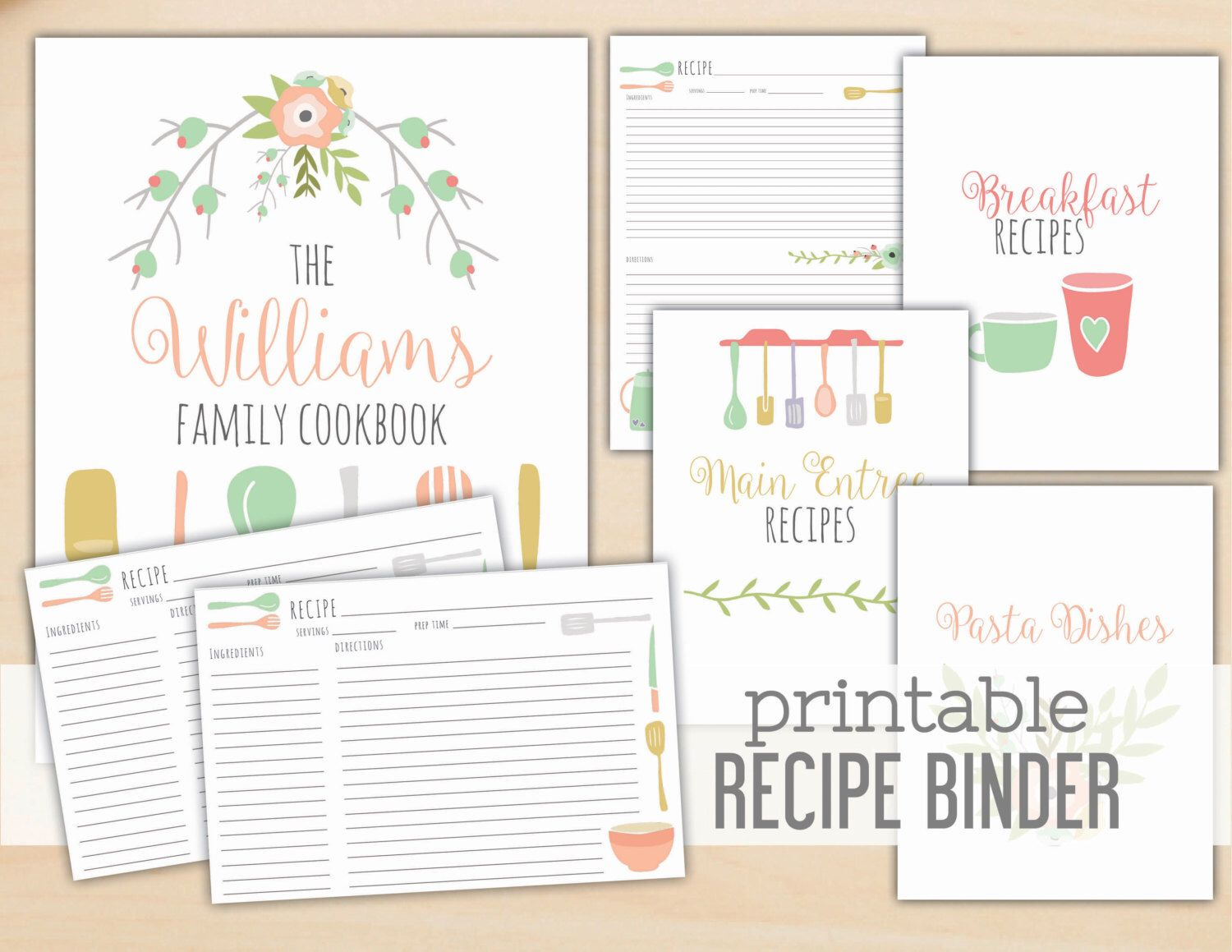graphic relating to Free Printable Recipe Binder Templates known as Pin by way of Callie Porter upon Paper Producing Recipe binders
