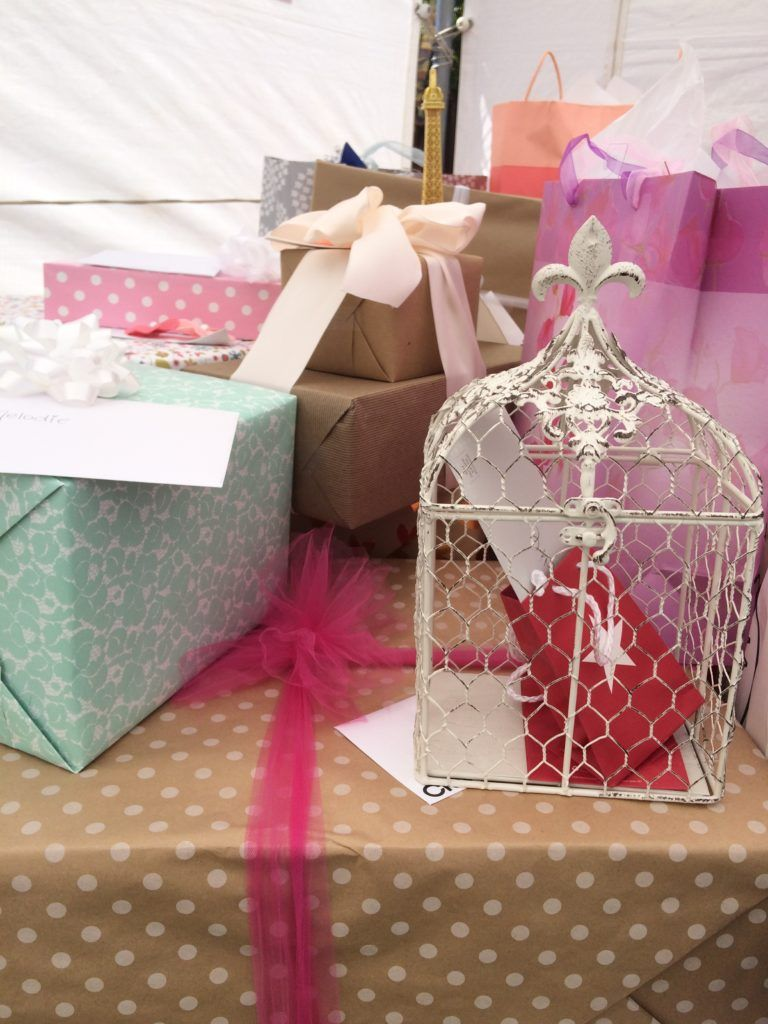 Collect Small Bridal Shower Gifts And Envelopes In A Bird Cage