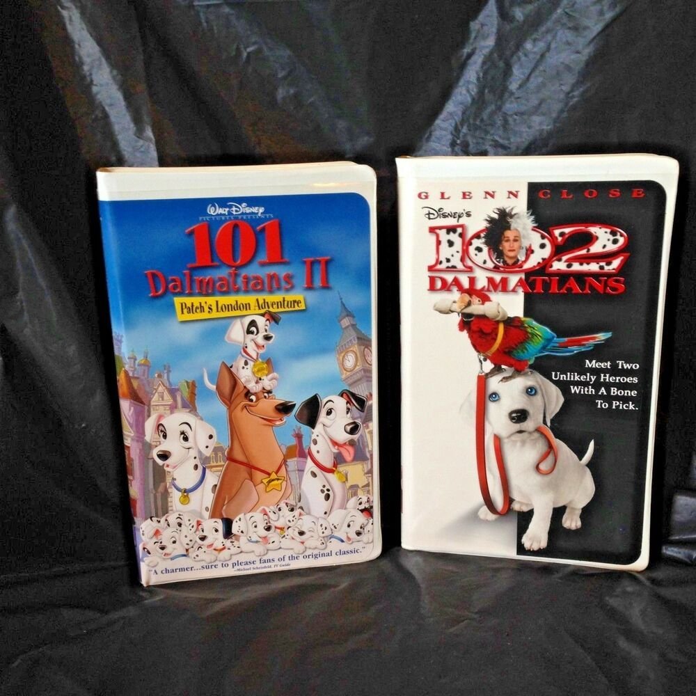 101 Dalmatians Ii Patchs London Adventure Vhs And 102 Dalmations