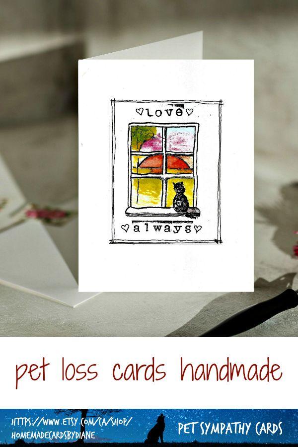 cat memorial card for pet memory and remembrance pet loss