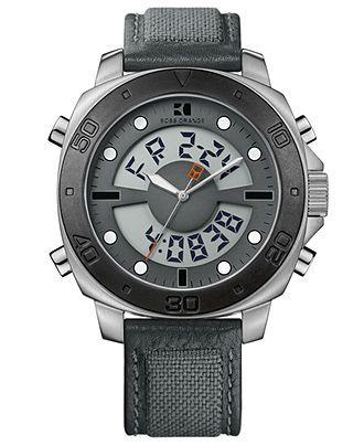1c6cb2d99 Hugo Boss Watch, Men's Analog Digital Gray Fabric Strap 49mm 1512680 - Hugo  Boss - Jewelry & Watches - Macy's