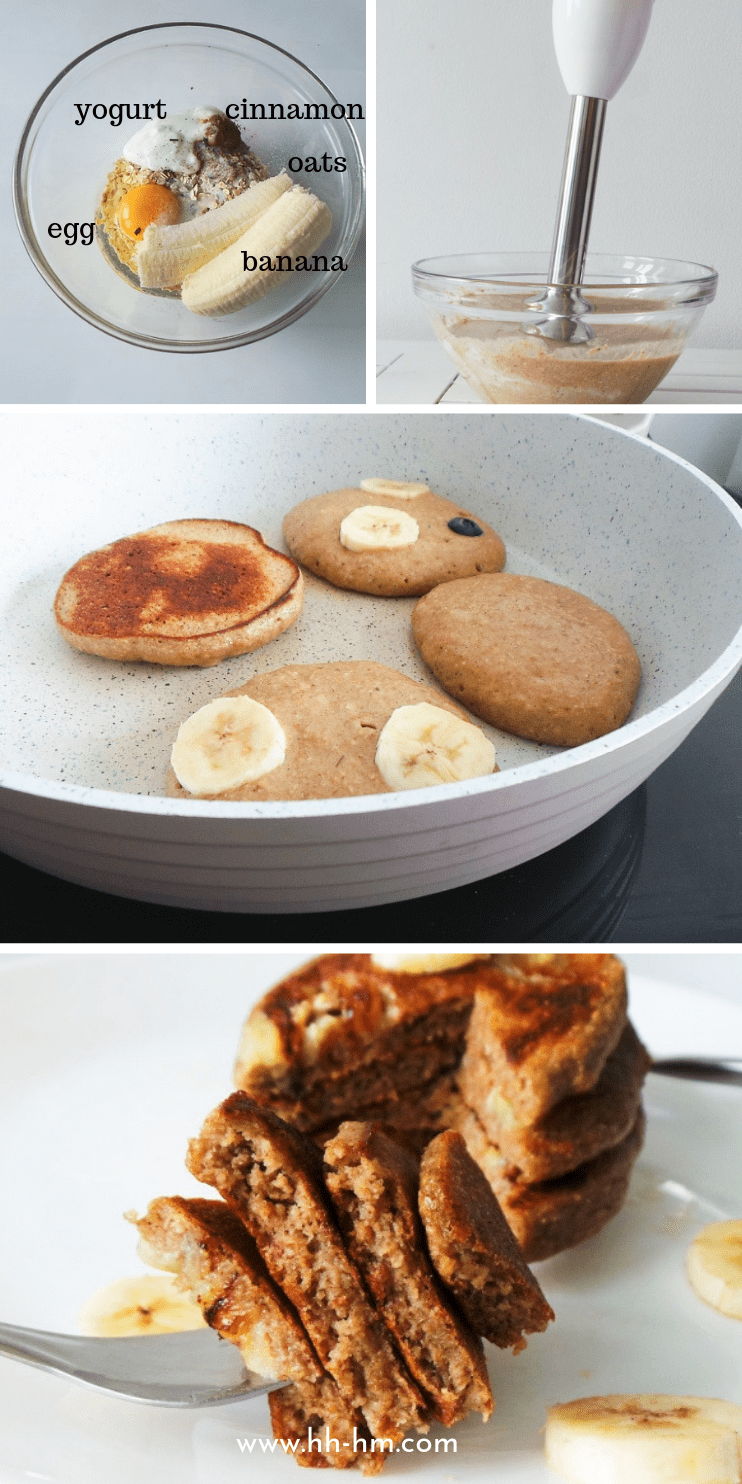 10-Minute Banana Oatmeal Pancakes - Her Highness, Hungry Me