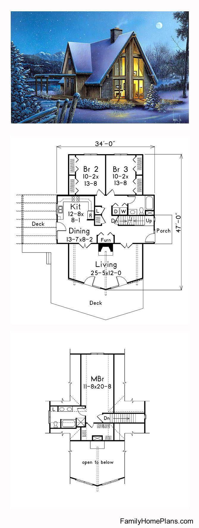 Proyecto de moderna casa A-frame | casas alpinas | Pinterest ...
