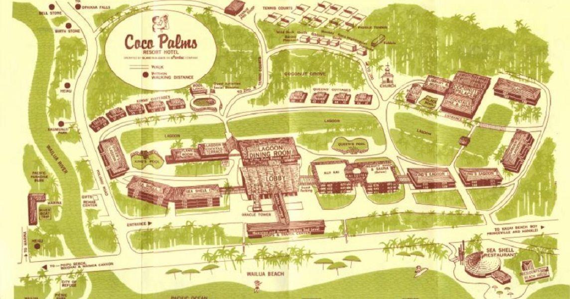 Coco Palms Resort, Kauai. Resort map. | Kauai in 2019 | Palm resort on poipu kai resort map, kauai beach resort hotel, kauai park map, kauai tourist activities, kauai hotels and resorts, kauai cruise port map, kauai medical clinic map, hyatt kauai map, kauai highway map detailed, poipu hotels map, the point at poipu resort map, kauai waterfalls, kauai road map, kauai island hotels & resorts, poipu kauai map, kauai marriott, kauai activities map, kauai county map, kauai beaches,
