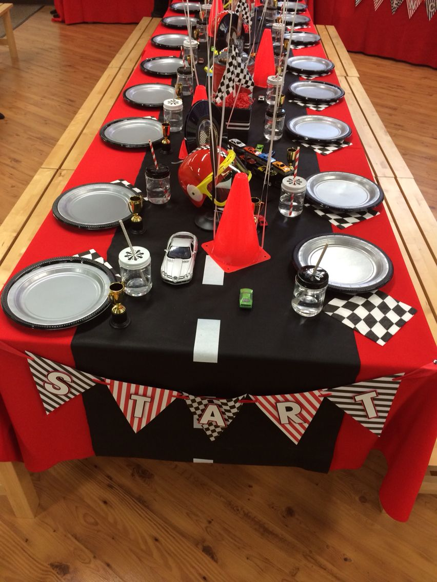Cobalt events kids party cars birthday table decor