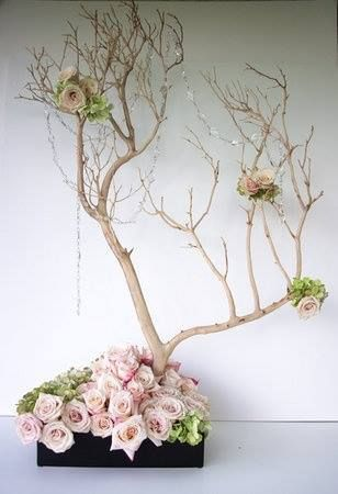 Japanese Decoration branches little trees f  l  o  w  e  r in