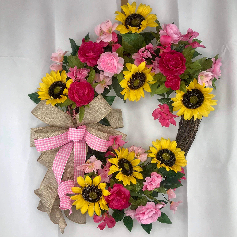 Photo of Wreath for Front Door, Sunflower Wreath