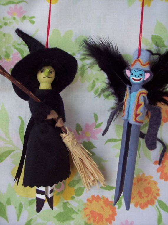 The Wizard of Oz Clothespin Dolls by Hoopdeeloo on Etsy