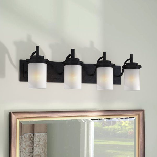 You Ll Love The Dashiell 4 Light Glass Shade Vanity Light At Wayfair Great Deals On All Lighting Products With Fre Vanity Lighting Glass Shades Charlton Home
