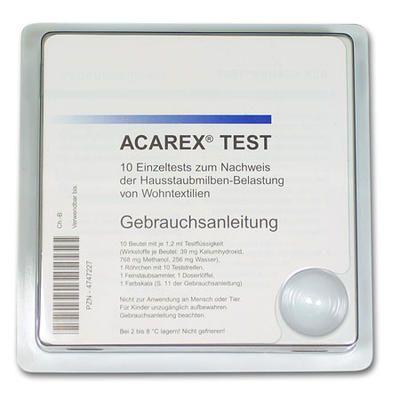 Acarex Hausstaub Milbentest 10 Milbentest Allergie Teststreifen