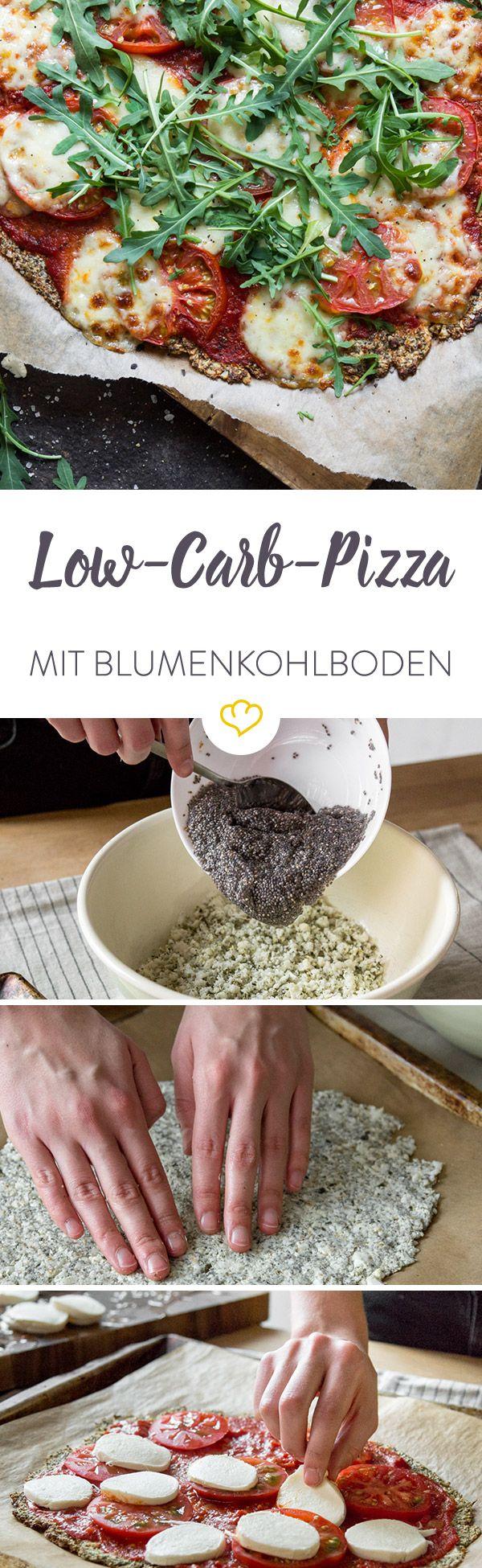 Photo of Low-Carb-Pizza mit Blumenkohl und Chia-Samen zum Genießen