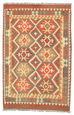 Kelim Afghan Old style-matto 125x192 (2#)