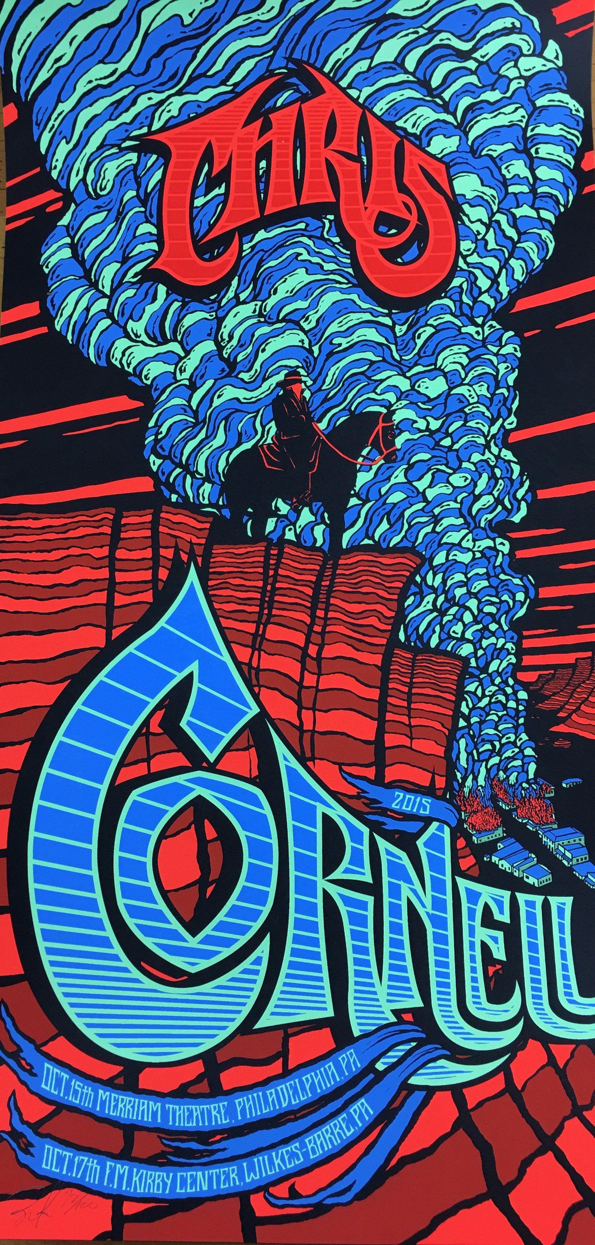 Chris Cornell 2015 Brad Klausen Poster Philadelphia Pa Merriam Theatre Poster Art Chris Cornell Rock Posters