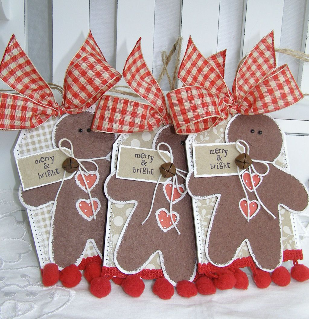 HOLD FOR MELONY Country Cottage Felt Gingerbread Men