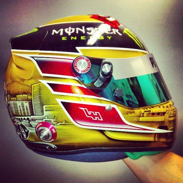 Lewis Hamilton's helmet for the 2013 Monaco GP