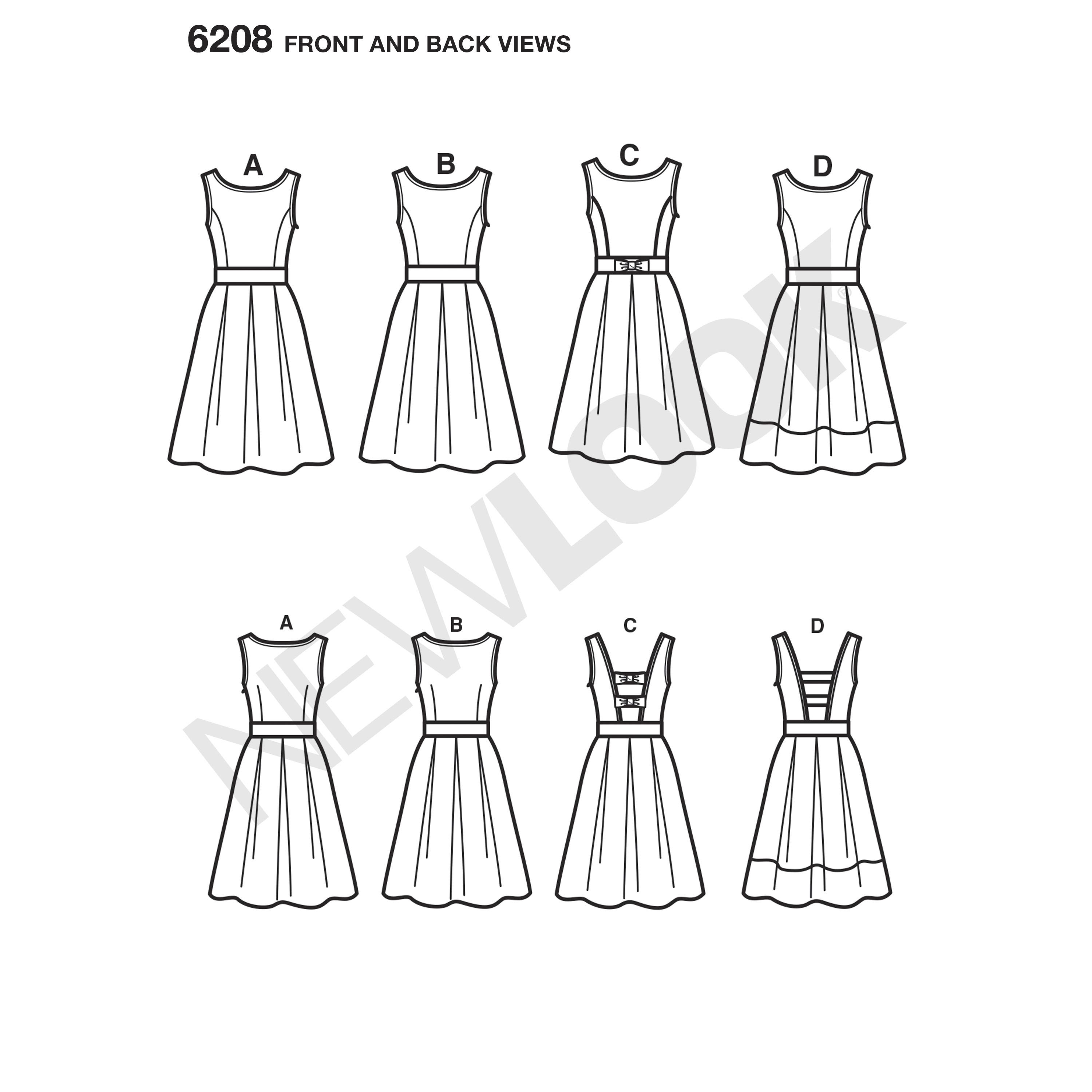 Misses' Retro Style Dress With Boat Neckline Has Self Or