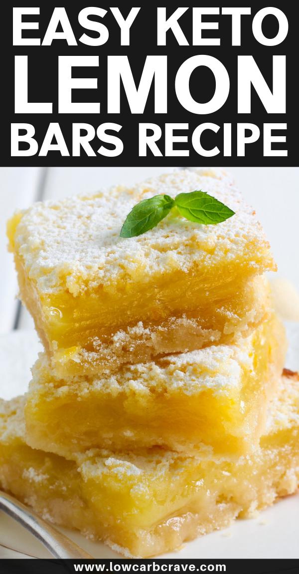 Easy Keto Lemon Bars (Low Carb & Sugar-Free)