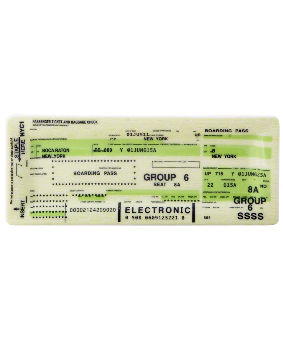 Airline Ticket Tray, Fishs Eddy. Shop the latest Fishs Eddy ...