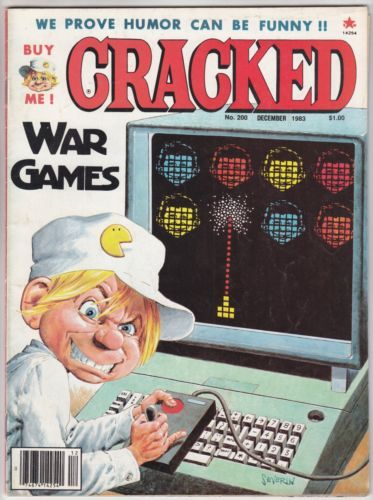 Cracked Mag 200 Dec 1983 War Games Star Wars Return Of The Jedi George Lucas Star Wars Games Disney Movies To Watch War