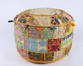 Gypsy Floor Pouf Round Floor Cushion Hippie Decor Floor Cushion Indian Floor Cushion Meditatio