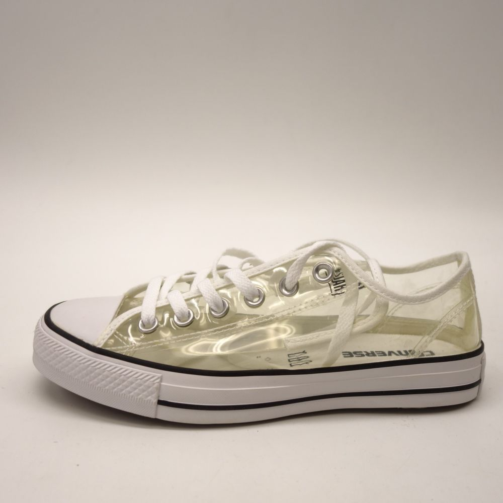 ad872f716935 New Converse Women Clear See Through Chuck Taylor All Star Low Canvas Shoes  Sz 8  Converse  Comfort