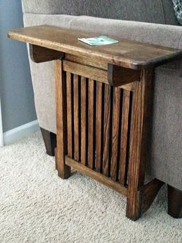 Space Saving End Table Do it with white rails and wood top to match