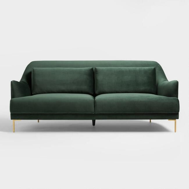 Forest green samara sofa v3 midcentury modern sofa living room home for Forest green living room furniture