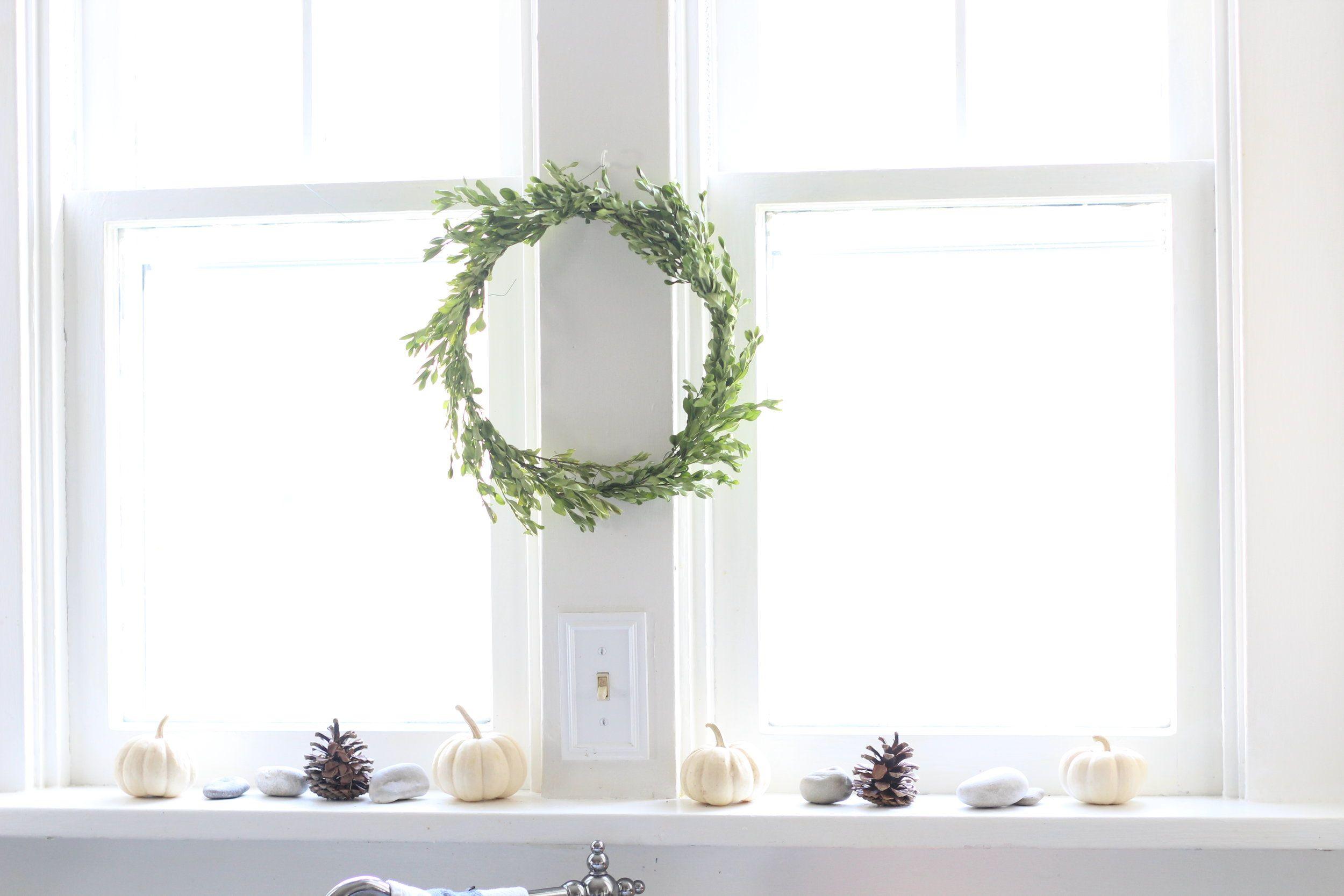 A simple fall windowsill farmhouse on boone kitchen