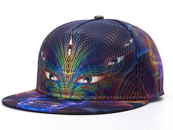 18f78e30d6b 3d Color Printing Hats Brands Exquisite Men Women Streetwear Hat Hats  Baseball Cap Polyester Cotton Hip Hop Snapback Caps