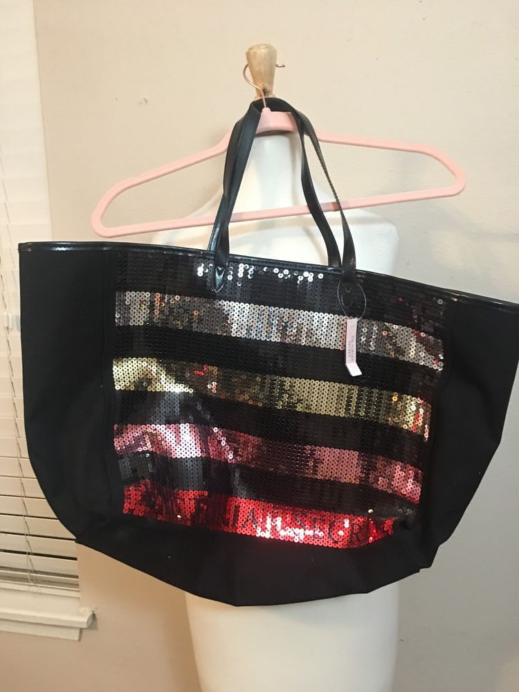 Nwt Victorias Secret 2018 Limited Tote Black Friday Sequin Fashion Clothing Shoes Accessories Womensbagshandbags Ebay Link