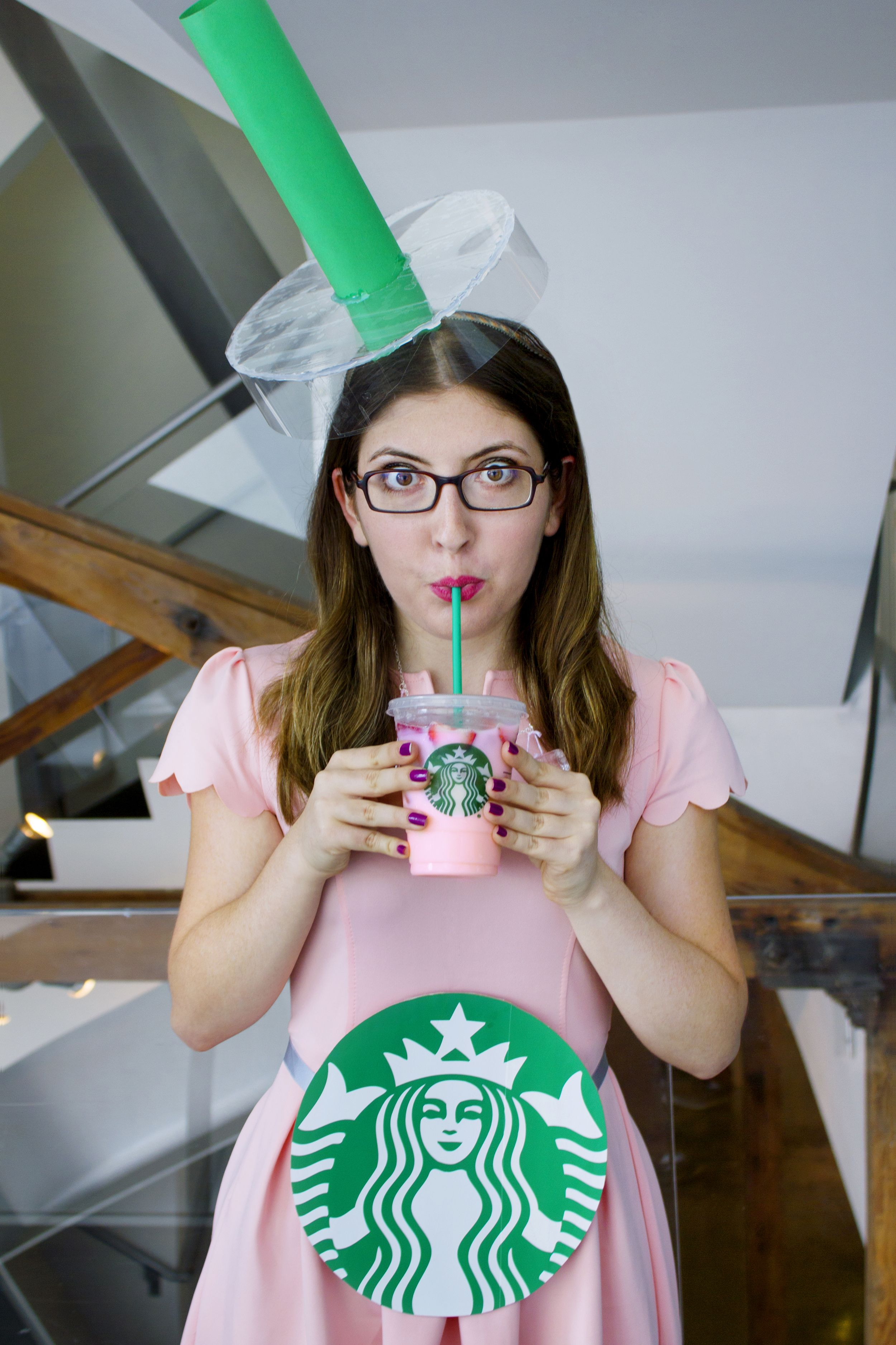 Diy Starbucks Pink Drink Easy Halloween Costume