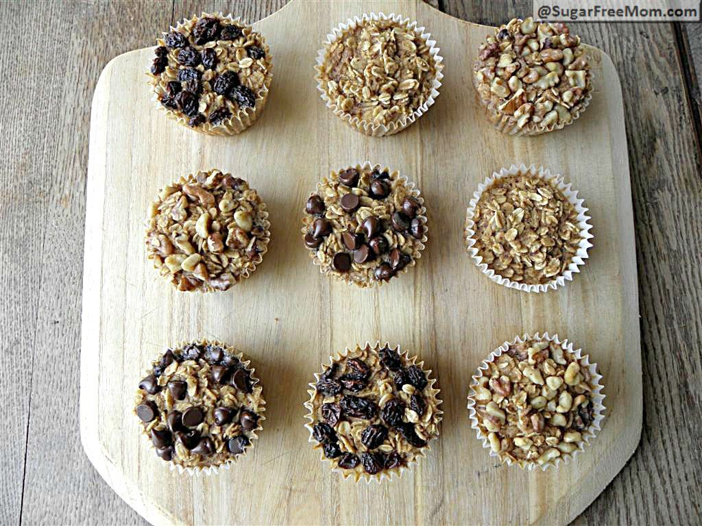 Personal Sized Baked Oatmeal with Individual Toppings: Gluten Free & Diabetic Friendly | SugarFreeMom.com