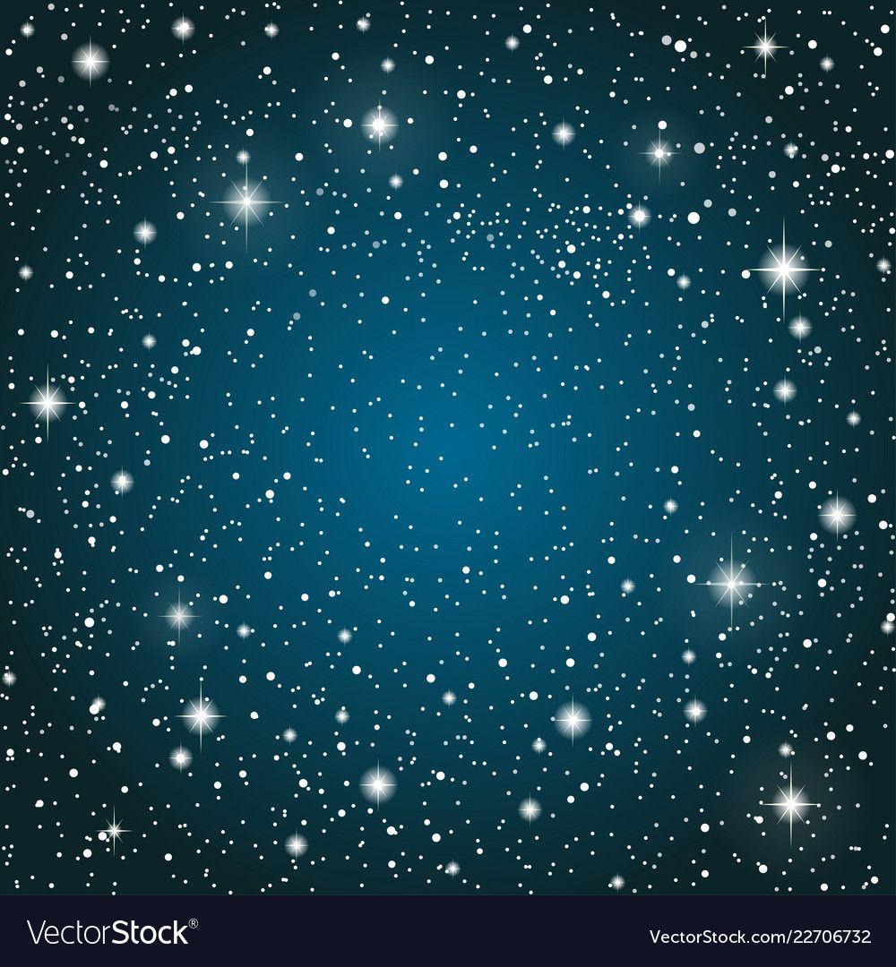 Realistic Starry Sky With Blue Glow Shining Stars Dark Sky Background Wallpaper Night Sky Dark Blue Outer Space With Brig Starry Sky Sky Overlays Star Sky