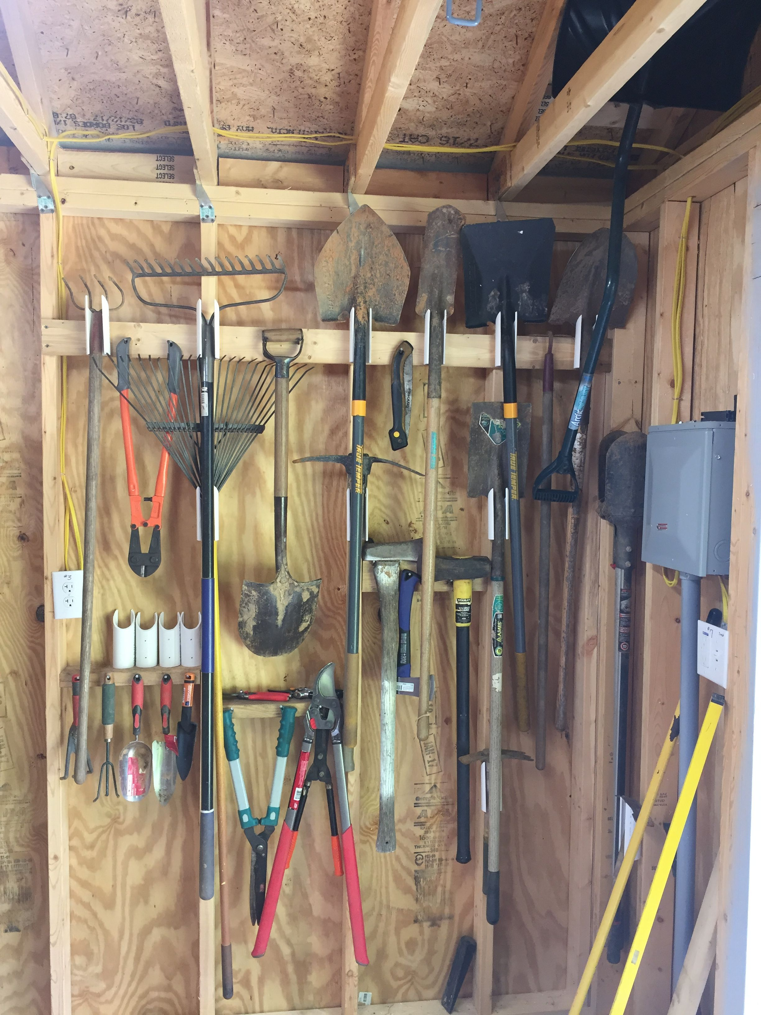 My Garden Tool Wall Works Great And Was Easy Storage Shed