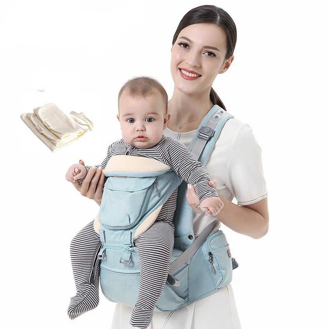 Lightweight and Breathable high Quality Cotton Baby Carrier up to 15kg Baby Carrier from 0 Months to 3 Years Baby Wrap to Keep Your Baby Safe