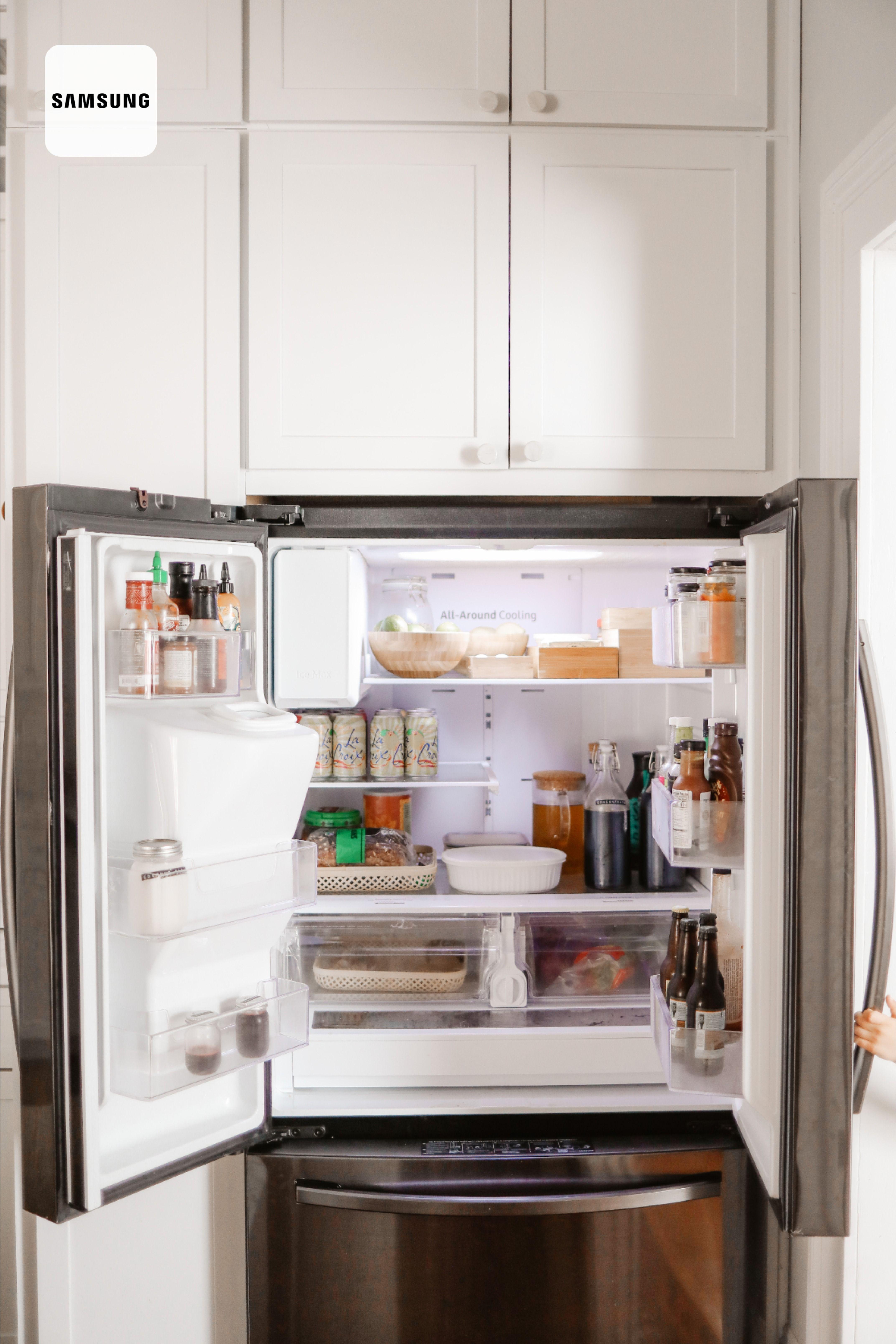 Refrigerator Organization In 2020 Kitchen Design French Door Refrigerator Samsung Refrigerator French Door