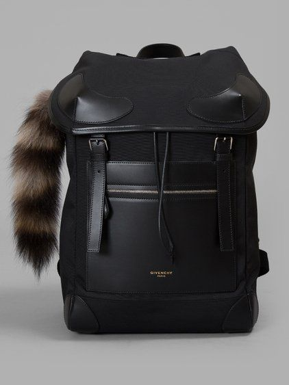 e91a6ce33f4b22 GIVENCHY Givenchy Black Backpack. #givenchy #bags #fur #nylon #backpacks #